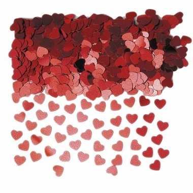 Rode glitter hartjes confetti 3 zakjes