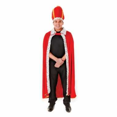 Rode koning mantel met hoed