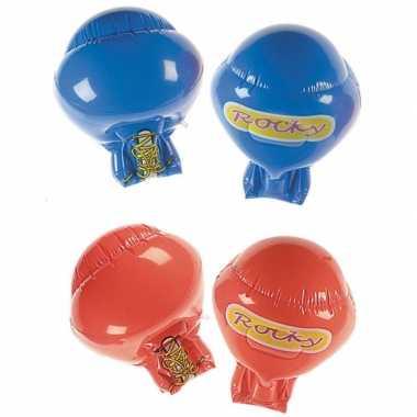 Rode opblaas handschoenen bokser