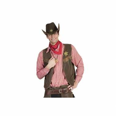 Rood cowboy overhemd met ruitjes