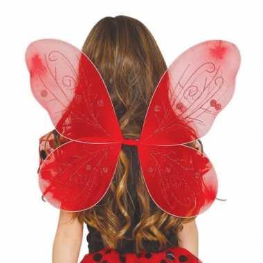Rood gekleurde vleugels voor meisjes