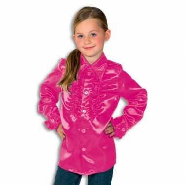 Rouche blouse rouches blouse roze voor jongens roze
