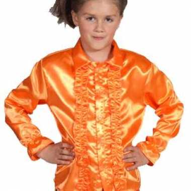 Rouchesblouse oranje kids