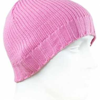 Roze beanie dames