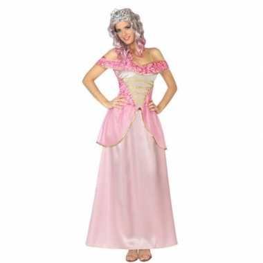 Roze prinsessen verkleed jurk voor dames