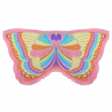 Roze regenboog vlinder vleugels voor kinderen