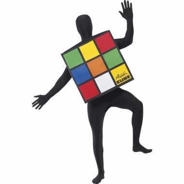 Rubiks kubus carnavalskleding volwassenen