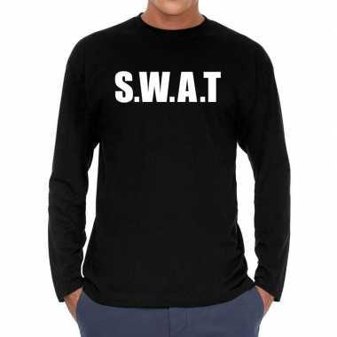 S.w.a.t. politie long sleeve t shirt zwart voor heren