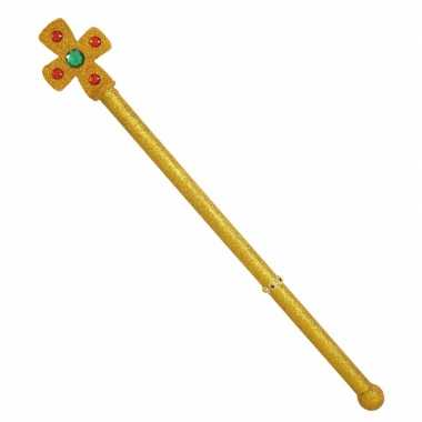Scepter met een kruis 54 cm