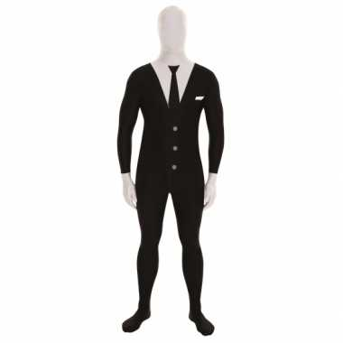 Carnavalskleding pak businessman zwart