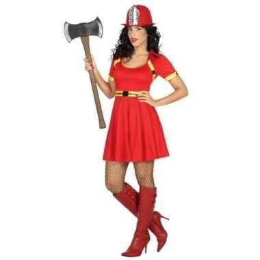 Sexy brandweervrouw verkleed carnavalskleding/jurkje voor dames