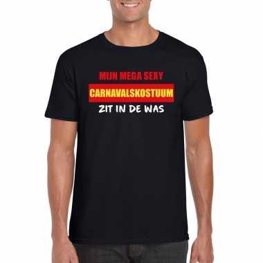 Sexy carnavalscarnavalskleding zit in de was heren t shirt zwart