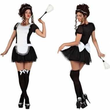 Sexy dienstmeisje verkleed carnavalskleding/jurkje voor dames