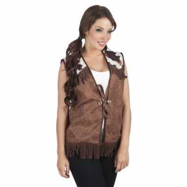 Sherrif vest bruin voor dames