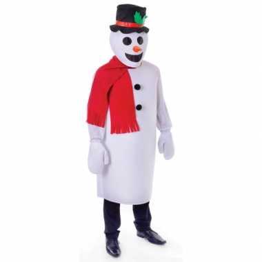 Sneeuw man carnavalskleding