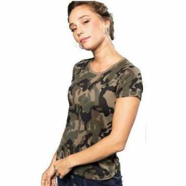 Soldaten / leger carnavalskleding camouflage shirt dames