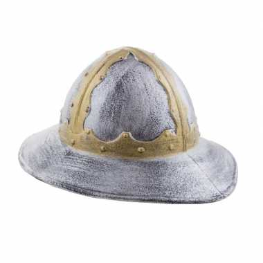 Spaanse conquistador helm zilver/goud