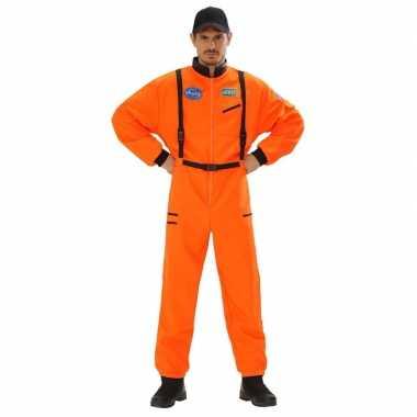 Space carnavalskledingl oranje voor heren