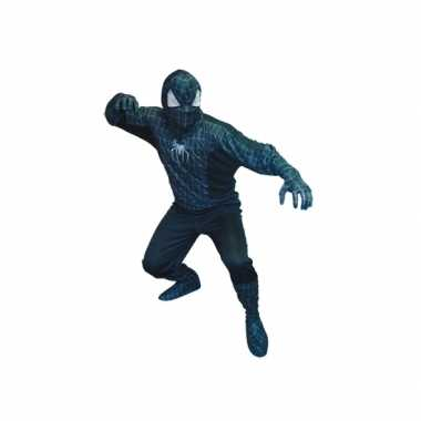 Spiderman zwart look a like verkleedpak heren