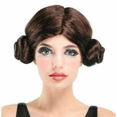 Star princess pruik bruin