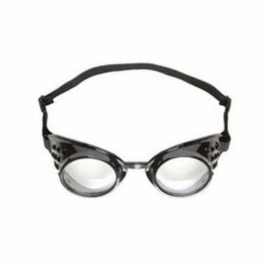 Steampunk bril zwart voor volwassenen