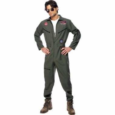 Straaljager piloten carnavalskleding voor heren