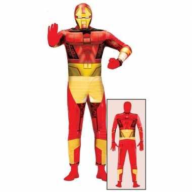 Superheld metalen man carnavalskleding voor volwassenen
