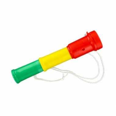 Supporter hoorn rood geel groen 20 cm