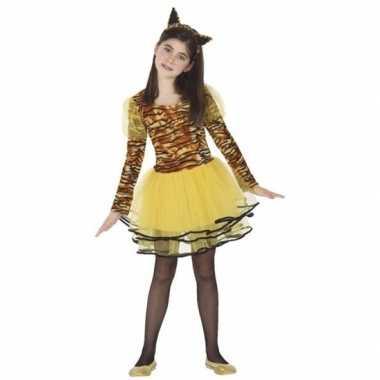 Tijgerin cara carnavalskleding voor meisjes
