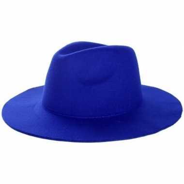 Toppers blauwe cowboyhoed voor volwassenen