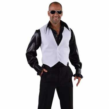 Toppers disco gilet wit voor heren