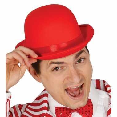 Toppers rode bolhoed/verkleed hoed voor volwassenen