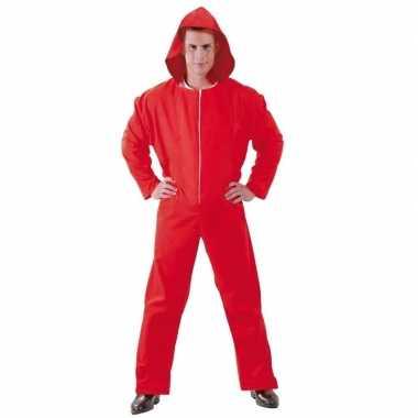 Toppers verkleed carnavalskledingl papel rood voor heren