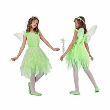 Toverfee/elfje flora verkleed carnavalskleding/jurkje voor meisjes gr