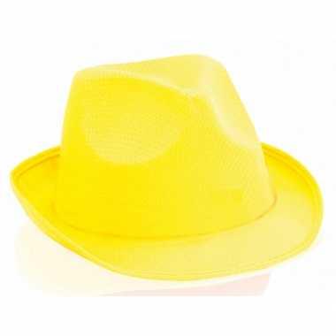 Trilby thema hoedjes geel