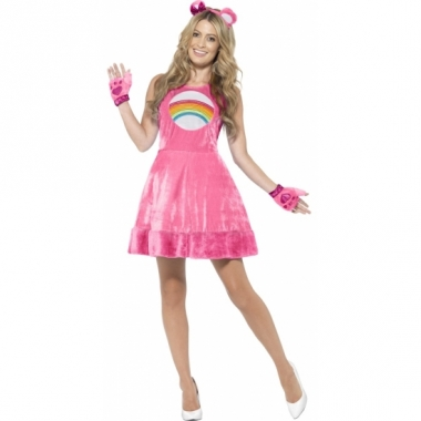 d42e29942d9897 Troetelbeer jurkje roze voor dames | Carnavals-winkel.nl