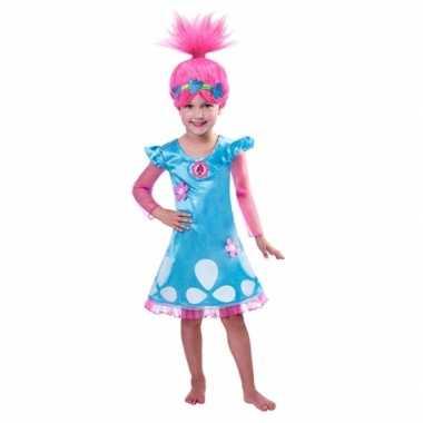Trolls poppy carnavalskleding voor meiden