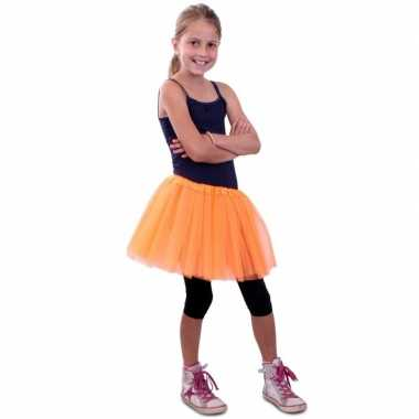 Tule rokje voor meisjes oranje