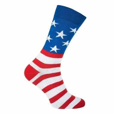 Usa / amerika feest carnaval sokken volwassenen