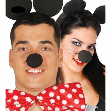Verkleed accessoire neus minnie zwart