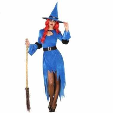 Verkleed carnavalskleding blauwe heks