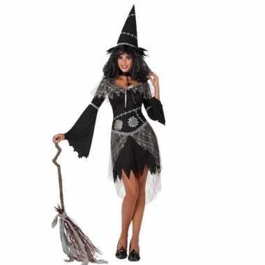 Verkleed carnavalskleding zwarte heks