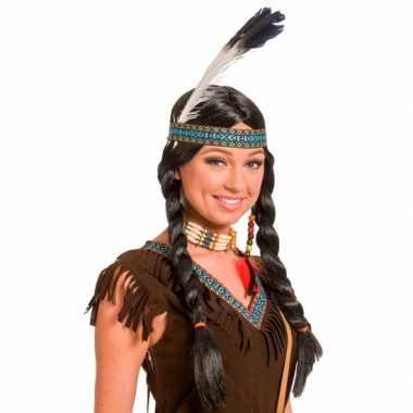 Verkleed indianen pruik voor dames