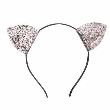 Verkleed poezen oren met glitters