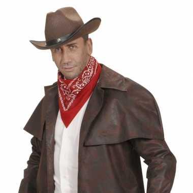 Verkleed rode zakdoek voor cowboys