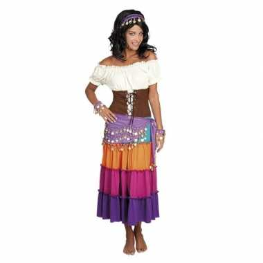Verkleed set harem danseres paars
