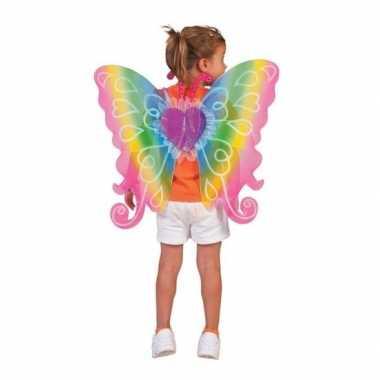Verkleed vlinder vleugels voor kinderen regenboog