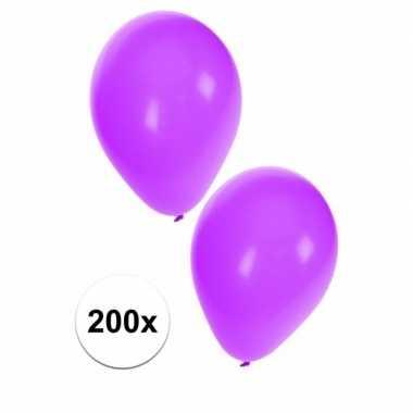 Versierings ballonnen paars, 200 st