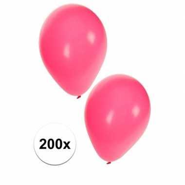 Versierings ballonnen roze, 200 st