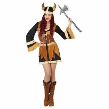 Viking verkleed carnavalskleding/jurk voor dames